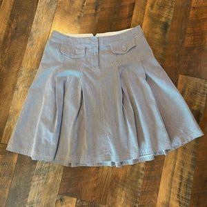 BEN SHERMAN Striped Cotton Full Skirt